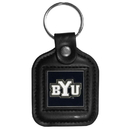 Siskiyou Buckle CLS86 BYU Cougars Square Leather Key Chain