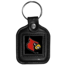 Siskiyou Buckle CLS88 Louisville Cardinals Square Leather Key Chain