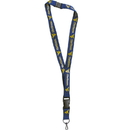 Siskiyou Buckle CLY60 W. Virginia Mountaineers Lanyard