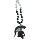 Siskiyou Buckle CMBN41 Michigan St. Spartans Mardi Gras Necklace