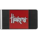 Siskiyou Buckle CMCL3 Nebraska Cornhuskers Steel Money Clip