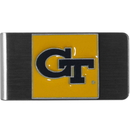 Siskiyou Buckle CMCL44 Georgia Tech Yellow Jackets Steel Money Clip