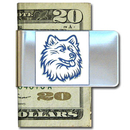 Siskiyou Buckle CMCL81 College Large Money Clip - UCONN Huskies