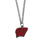 Siskiyou Buckle CN51SC Wisconsin Badgers Chain Necklace with Small Charm