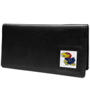 Siskiyou Buckle CNC21BX Kansas Jayhawks Leather Checkbook Cover