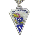 Siskiyou Buckle CPC21 Kansas Jayhawks Classic Chain Necklace