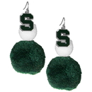 Siskiyou Buckle Michigan St. Spartans Pom Pom Earrings, CPPE41