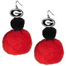 Siskiyou Buckle Georgia Bulldogs Pom Pom Earrings, CPPE5