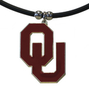 Siskiyou Buckle CPR48 Oklahoma Sooners Rubber Cord Necklace