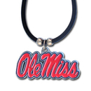 Siskiyou Buckle CPR59 Mississippi Rebels Rubber Cord Necklace