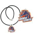 Siskiyou Buckle CPR73 Boise St. Broncos Rubber Cord Necklace