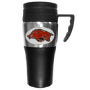 Siskiyou Buckle CPTM12 Arkansas Razorbacks Steel Travel Mug w/Handle