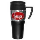 Siskiyou Buckle CPTM3 Nebraska Cornhuskers Steel Travel Mug w/Handle