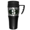 Siskiyou Buckle CPTM41 Michigan St. Spartans Steel Travel Mug w/Handle