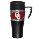 Siskiyou Buckle CPTM48 Oklahoma Sooners Steel Travel Mug w/Handle