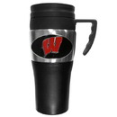 Siskiyou Buckle CPTM51 Wisconsin Badgers Steel Travel Mug w/Handle