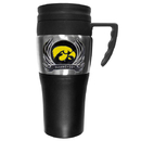 Siskiyou Buckle CPTM52F Iowa Hawkeyes Steel Travel Mug w/Handle