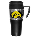 Siskiyou Buckle CPTM52 Iowa Hawkeyes Steel Travel Mug w/Handle