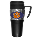 Siskiyou Buckle CPTM69 Clemson Tigers Steel Travel Mug w/Handle