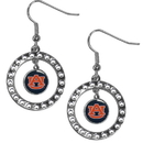 Siskiyou Buckle CRE42 Auburn Tigers Rhinestone Hoop Earrings