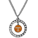 Siskiyou Buckle CRN25 Tennessee Volunteers Rhinestone Hoop Necklace