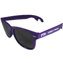 Siskiyou Buckle CS1B112P Tcu Horned Frogs Beachfarer Bottle Opener Sunglasses, Purple
