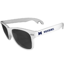 Siskiyou Buckle CS1B36W Michigan Wolverines Beachfarer Bottle Opener Sunglasses, White