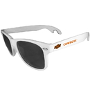 Siskiyou Buckle CS1B58W Oklahoma St. Cowboys Beachfarer Bottle Opener Sunglasses, White