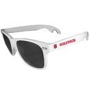 Siskiyou Buckle CS1B79W N. Carolina St. Wolfpack Beachfarer Bottle Opener Sunglasses, White