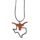 Siskiyou Buckle Texas Longhorns State Charm Necklace, CSN22