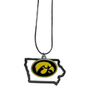 Siskiyou Buckle Iowa Hawkeyes State Charm Necklace, CSN52