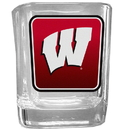 Siskiyou Buckle CSQP51 Wisconsin Badgers Square Glass Shot Glass