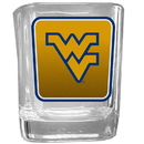 Siskiyou Buckle CSQP60 W. Virginia Mountaineers Square Glass Shot Glass