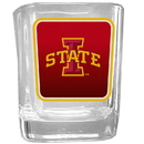 Siskiyou Buckle CSQP83 Iowa St. Cyclones Square Glass Shot Glass