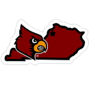 Siskiyou Buckle CSTM88 Louisville Cardinals Home State 11 Inch Magnet