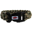 Siskiyou Buckle CSUB12GC Arkansas Razorbacks Camo Survivor Bracelet
