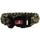 Siskiyou Buckle CSUB13GC Alabama Crimson Tide Camo Survivor Bracelet