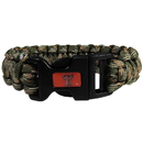 Siskiyou Buckle CSUB30GC Texas Tech Raiders Camo Survivor Bracelet
