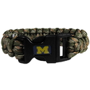 Siskiyou Buckle CSUB36GC Michigan Wolverines Camo Survivor Bracelet
