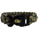 Siskiyou Buckle CSUB44GC Georgia Tech Yellow Jackets Camo Survivor Bracelet