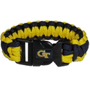 Siskiyou Buckle CSUB44 Georgia Tech Yellow Jackets Survivor Bracelet