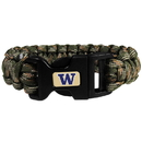 Siskiyou Buckle CSUB49GC Washington Huskies Camo Survivor Bracelet