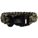 Siskiyou Buckle CSUB60GC W. Virginia Mountaineers Camo Survivor Bracelet