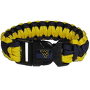 Siskiyou Buckle CSUB60 W. Virginia Mountaineers Survivor Bracelet