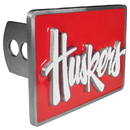 Siskiyou Buckle CTH3S Nebraska Cornhuskers Hitch Cover Class II and Class III Metal Plugs