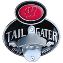 Siskiyou Buckle CTH51PD Wisconsin Badgers Tailgater Hitch Cover Class III