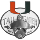 Siskiyou Buckle CTH6TZ Miami Hurricanes Tailgater Hitch Cover Class III
