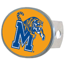 Siskiyou Buckle CTHO103X Memphis Tigers Oval Metal Hitch Cover Class II and III