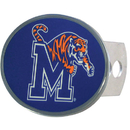 Siskiyou Buckle CTHO103 Memphis Tigers Oval Metal Hitch Cover Class II and III