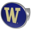 Siskiyou Buckle CTHO49 Washington Huskies Oval Metal Hitch Cover Class II and III